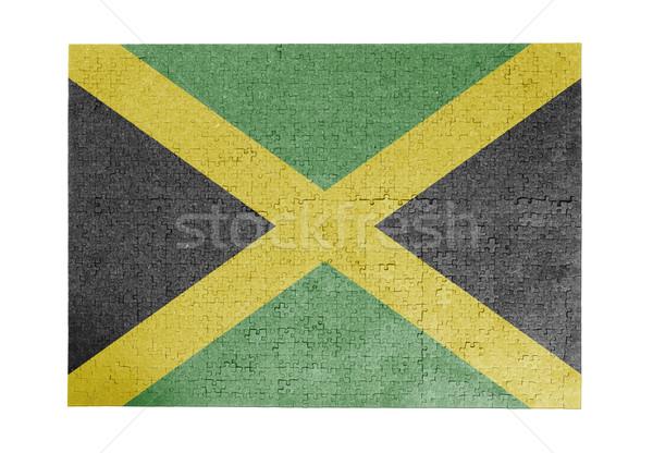 Nagy kirakós játék 1000 darabok Jamaica zászló Stock fotó © michaklootwijk