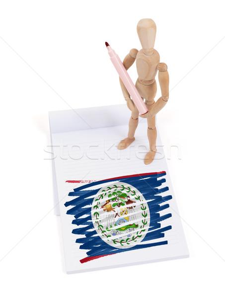 манекен рисунок Белиз флаг бумаги Сток-фото © michaklootwijk