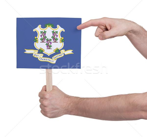 Mão pequeno cartão bandeira Connecticut Foto stock © michaklootwijk