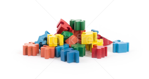 Closeup of big jigsaw puzzle pieces Stock photo © michaklootwijk