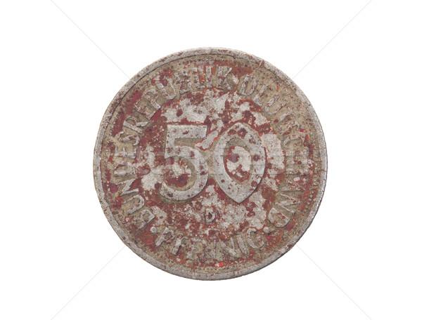 Old 50 German mark pfennig coin isolated Stock photo © michaklootwijk
