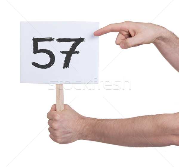 Sign with a number, 57 Stock photo © michaklootwijk