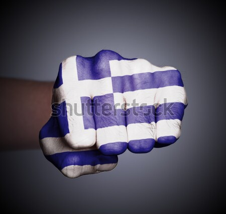 Görmek yumruk afiş Yunanistan el Stok fotoğraf © michaklootwijk