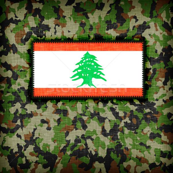 Uniforme Líbano bandeira textura abstrato Foto stock © michaklootwijk