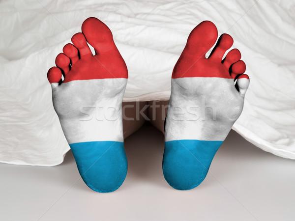 Voeten vlag slapen dood Luxemburg teken Stockfoto © michaklootwijk