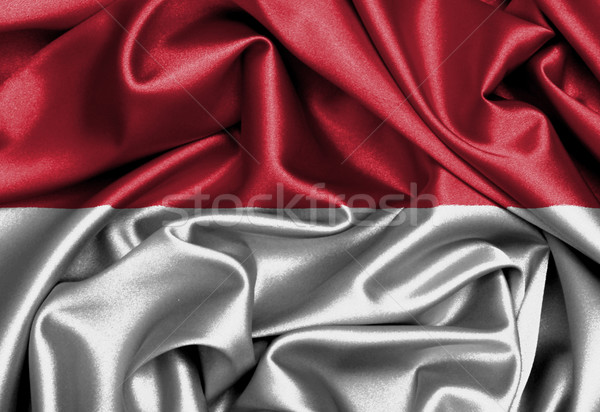 Satin flag, three dimensional render Stock photo © michaklootwijk