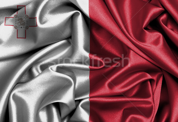Raso bandera tridimensional hacer Malta textura Foto stock © michaklootwijk