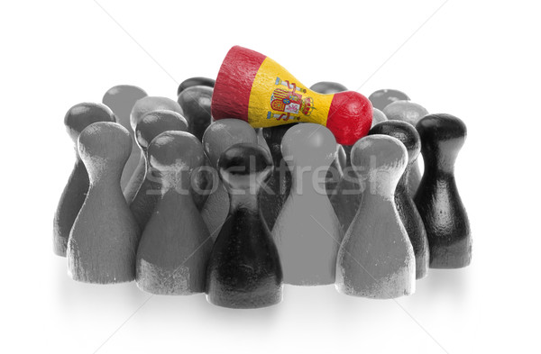 Een uniek pion top vlag Spanje Stockfoto © michaklootwijk