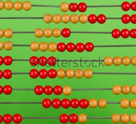 Close-up of an old abacus on a green background Stock photo © michaklootwijk