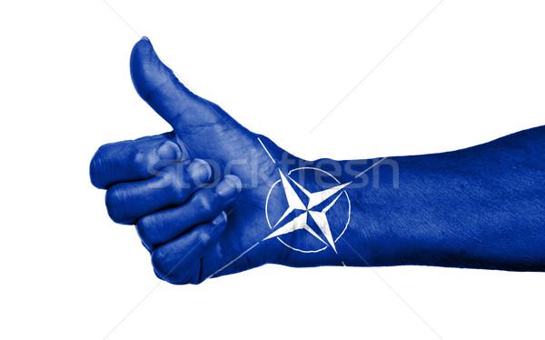 старуху знак Мир войны рукопожатие Сток-фото © michaklootwijk