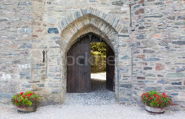 ゲート 古い 中世 城 スコットランド 花 ストックフォト © michaklootwijk