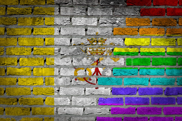 Dark brick wall - LGBT rights - Vatican Stock photo © michaklootwijk