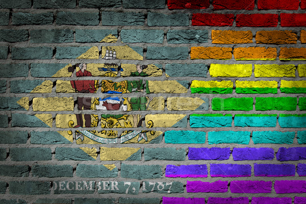 Dark brick wall - LGBT rights - Delaware Stock photo © michaklootwijk