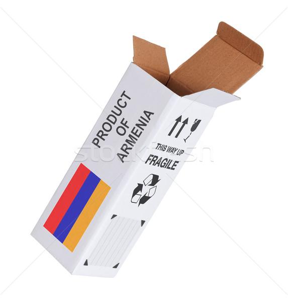 Exportar producto Armenia papel cuadro Foto stock © michaklootwijk
