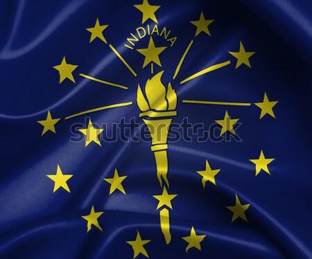 Vlag brandend Indiana oorlog crisis brand Stockfoto © michaklootwijk