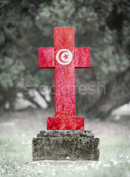Gravestone in the cemetery - Tunisia Stock photo © michaklootwijk