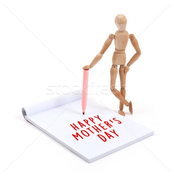 Manequim escrita recados feliz dia das mães mulher Foto stock © michaklootwijk