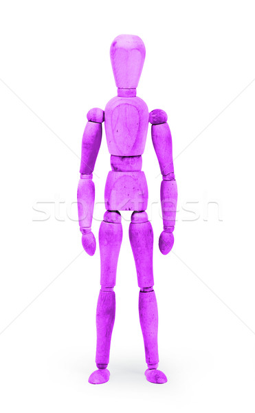 Wood figure mannequin with bodypaint - Purple Stock photo © michaklootwijk