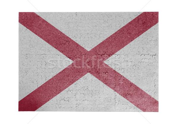 Büyük 1000 parçalar Alabama bayrak Stok fotoğraf © michaklootwijk