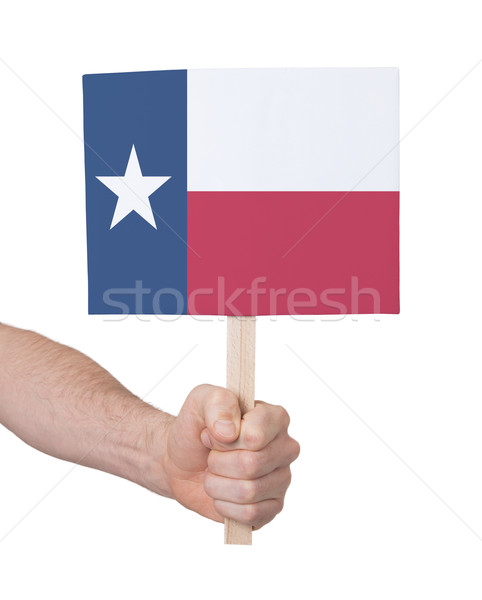 Hand holding small card - Flag of Texas Stock photo © michaklootwijk