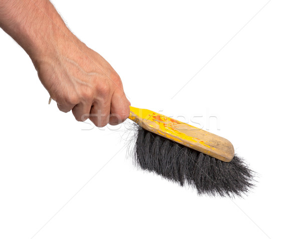 Hand brush isolated Stock photo © michaklootwijk