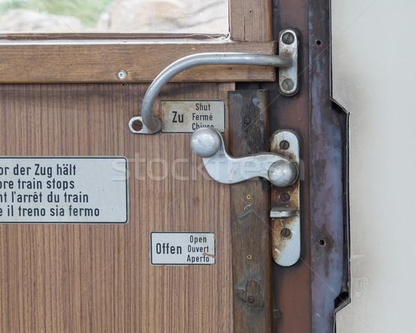 Vintage porte train compartiment texture fond Photo stock © michaklootwijk