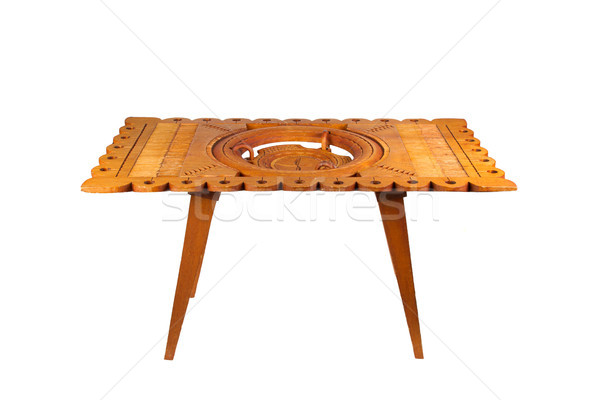 Old wooden table from Suriname, isolated  Stock photo © michaklootwijk