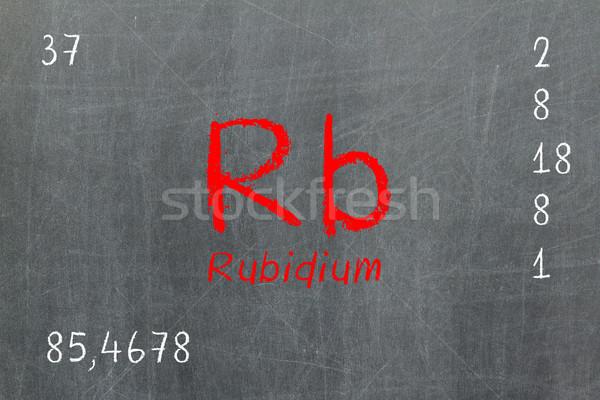 Isolated blackboard with periodic table, Rubidium Stock photo © michaklootwijk