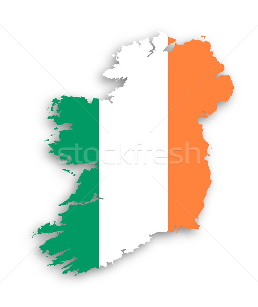 Map of Ireland with flag inside Stock photo © michaklootwijk