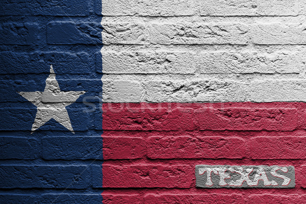 Brick wall with a painting of a flag, Texas Stock photo © michaklootwijk