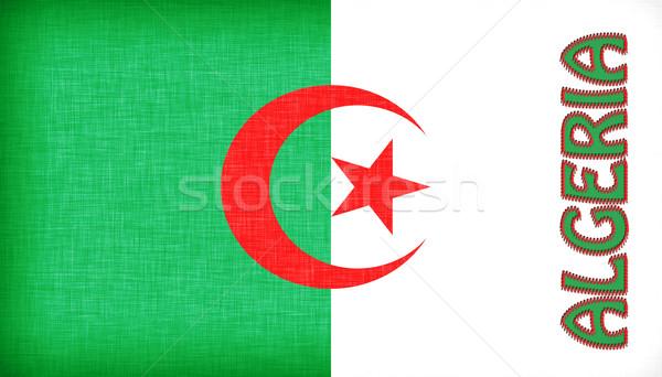 Pavillon Algérie lettres texture fond Photo stock © michaklootwijk