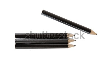 Stock photo: Four short pencils isolated