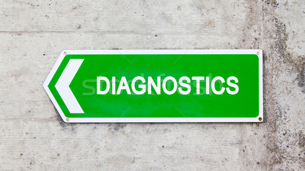 Green sign - Diagnostics Stock photo © michaklootwijk