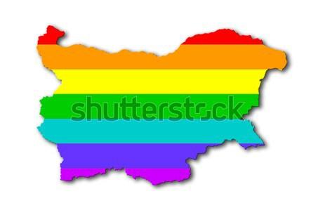 Syria - Rainbow flag pattern Stock photo © michaklootwijk