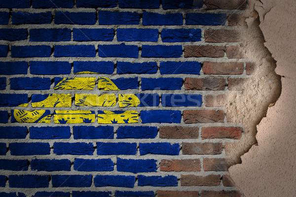 Dark brick wall with plaster - Oregon Stock photo © michaklootwijk