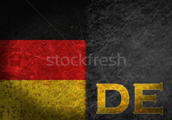 Velho enferrujado metal assinar bandeira país Foto stock © michaklootwijk