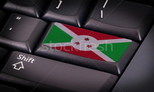Bandeira teclado botão Burundi projeto laptop Foto stock © michaklootwijk