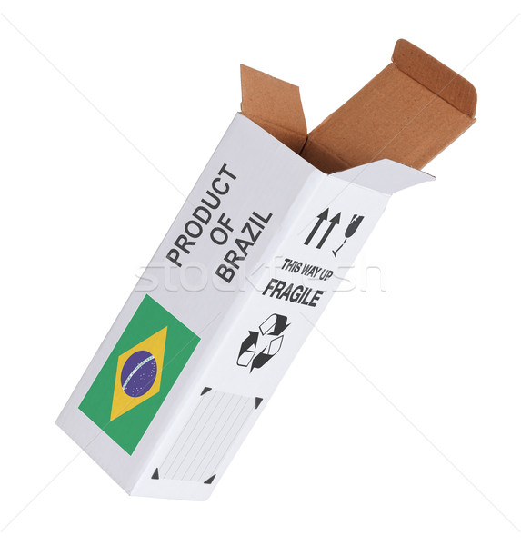 Concept of export - Product of Brazil Stock photo © michaklootwijk