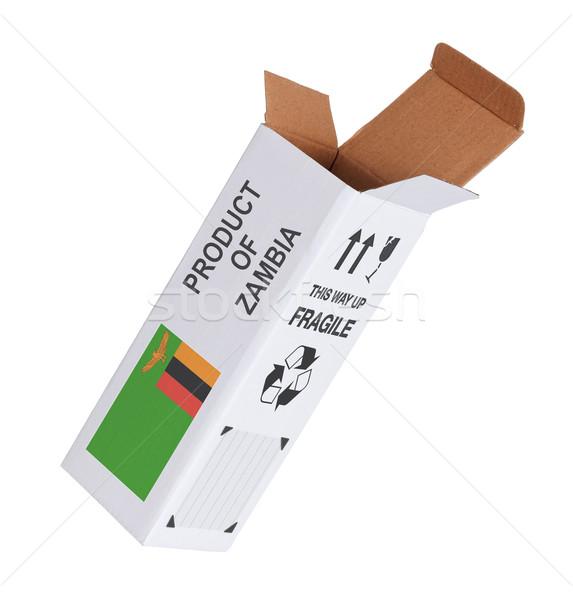 экспорт продукт Замбия бумаги окна Сток-фото © michaklootwijk