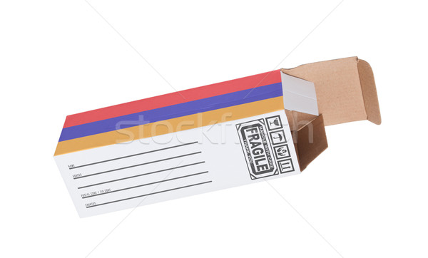 エクスポート 製品 アルメニア 紙 ボックス ストックフォト © michaklootwijk