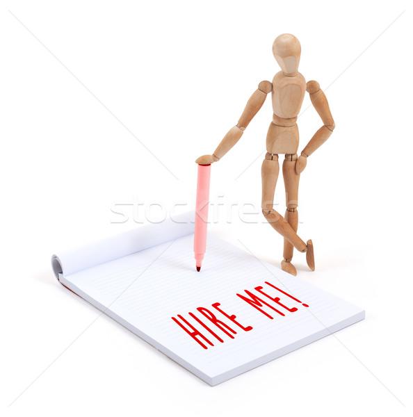 Legno mannequin iscritto scrapbook me business Foto d'archivio © michaklootwijk