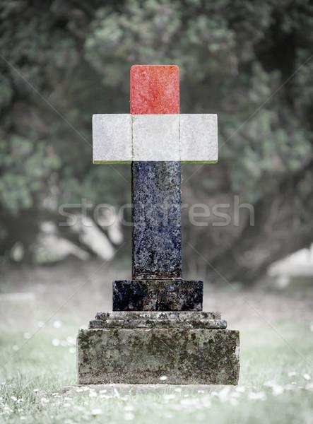 Gravestone in the cemetery - Yemen Stock photo © michaklootwijk