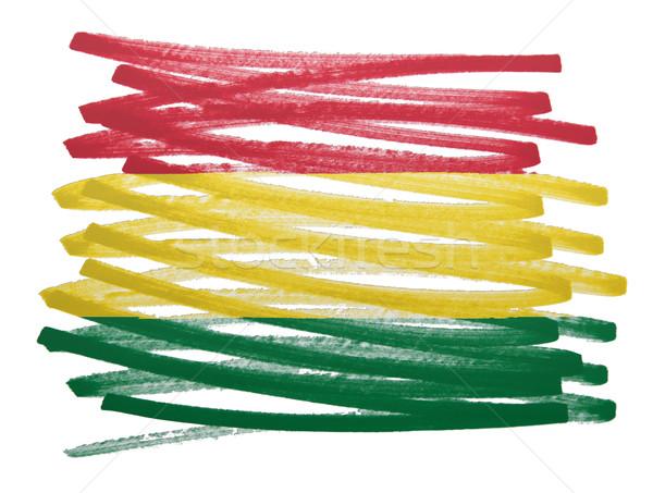 フラグ 実例 ボリビア ペン ビジネス 塗料 ストックフォト © michaklootwijk
