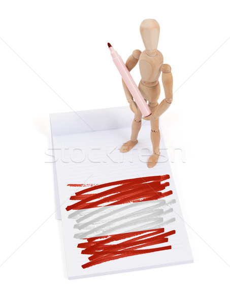 Manequim desenho Áustria bandeira papel Foto stock © michaklootwijk