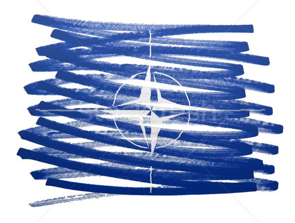 Flag illustration - NATO Stock photo © michaklootwijk