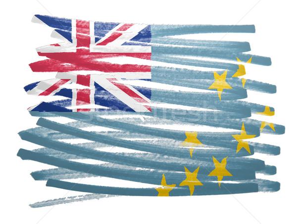 Bandeira ilustração Tuvalu caneta negócio pintar Foto stock © michaklootwijk