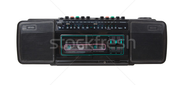 Vintage radio cassette recorder Stock photo © michaklootwijk