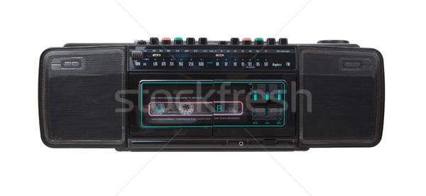 Vintage radio kaseta odizolowany biały Zdjęcia stock © michaklootwijk