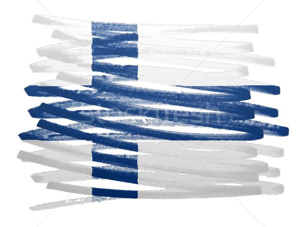 флаг иллюстрация Финляндия пер бизнеса краской Сток-фото © michaklootwijk