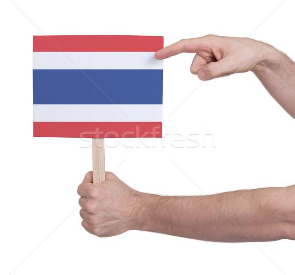 Main faible carte pavillon Thaïlande Photo stock © michaklootwijk